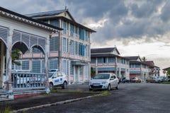 Altes Krankenhaus in St Laurent du Maroni stockfotografie