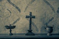 Altes Kruzifix stockbild