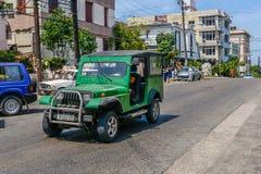 Altes kubanisches Auto Lizenzfreie Stockbilder
