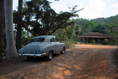 Altes kubanisches Auto Lizenzfreie Stockfotografie