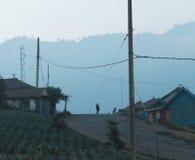 Altes ländliches Dorf in Java Lizenzfreies Stockfoto