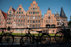 Altes Lübeck Stockbild