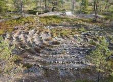 Altes Labyrinth in Nord-Russland Lizenzfreies Stockfoto