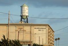 Altes Lager am Hafen von Los Angeles, Kalifornien Lizenzfreie Stockbilder