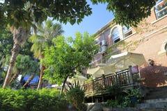 Altes Landhaus in kulangsu Insel, luftgetrockneter Ziegelstein rgb Stockbilder