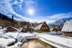 Altes Landwirtdorf in Japan Lizenzfreies Stockfoto