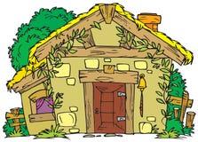 Altes landwirtschaftliches Haus vektor abbildung