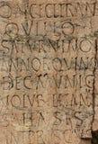 Altes lateinisches Schreiben Stockbild