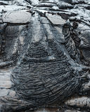 Altes Lavafluss kilauea große Insel Hawaii lizenzfreies stockfoto