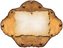 Altes leeres Papier im Kapitel des Baums lizenzfreies stockbild