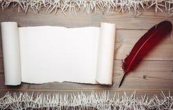 Altes leeres Rollenpapier und -spule Lizenzfreie Stockbilder