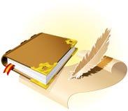 Altes magisches Buch Stockfotos