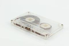Altes Magnetband für Tonaufzeichnungen auf weißem Hintergrund Stockbild