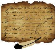 Altes Manuskript vektor abbildung