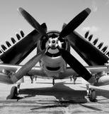 Altes Marinekampfflugzeug Stockfoto