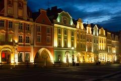 Altes Markt-Quadrat in Boleslawie Stockfoto