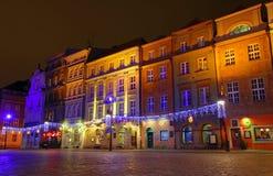 Altes Markt-Quadrat in Poznan, Polen Stockfotos