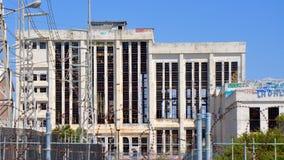 Altes Maschinenhaus: Verlassenes Shell in Fremantle, West-Australien Stockbild
