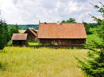 Altes masurian Dorf stockfotografie
