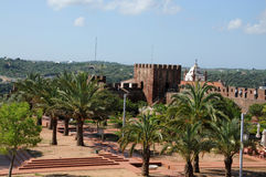Altes maurisches Schloss in Silves Stockfotos
