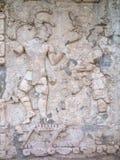 Altes Mayaflachrelief in Palenque Lizenzfreies Stockfoto