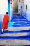 Altes Medina von Chefchaouen Stockfotos