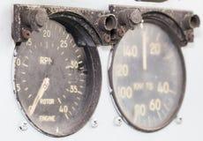 Altes Messgerät des Hubschraubers Stockbild