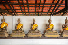 Altes Messing-Buddhas Stockbild