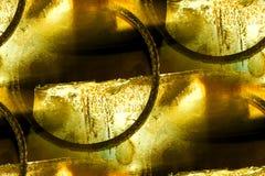 Altes Metall, Drahtringauszug Stockfoto