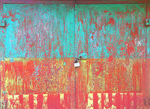 Altes Metallbunter rostiger grunge Hintergrund Lizenzfreie Stockfotografie