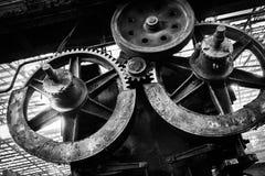 Altes, metallurgisches festes, auf eine Demolierung wartend Lizenzfreie Stockfotos