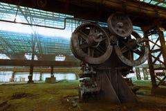 Altes metallurgisches festes, auf eine Demolierung wartend Lizenzfreies Stockfoto
