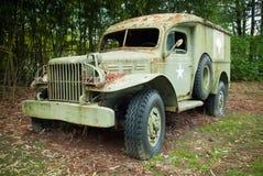 Altes militärisches medizinisches Fahrzeug Stockfoto