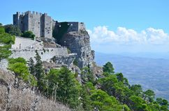 Altes mittelalterliches Fort in Erice, Italien Lizenzfreie Stockfotos