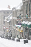 Altes Montreal im Winter Lizenzfreie Stockfotos