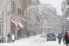 Altes Montreal im Winter Lizenzfreie Stockbilder