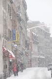 Altes Montreal im Winter Lizenzfreies Stockfoto