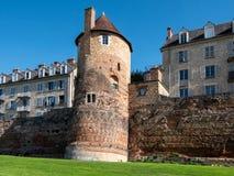 Altes Monument der Stadt von Le Mans Alte Stadt-Wand lizenzfreie stockbilder