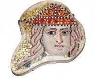 Altes Mosaik bei British Museum Lizenzfreie Stockfotografie