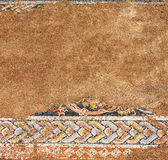 Altes Mosaik in Dion, Griechenland Stockfotografie