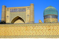 Altes moslemisches architektonisches komplexes Bibi-Chanum in Samarkand Stockbild