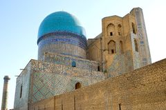Altes moslemisches architektonisches komplexes Bibi-Chanum in Samarkand Lizenzfreie Stockbilder