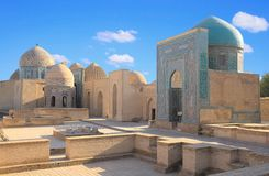 Altes moslemisches Mausoleum in Samarkand Stockfoto