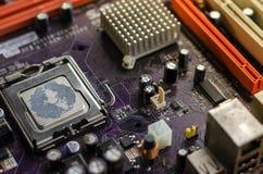 Altes Motherboard für den ganzen Rahmen Stockfotografie
