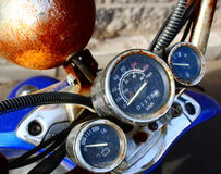 Altes moto Panel Stockfoto