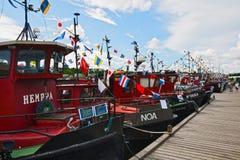 Altes Motorschiff der Regatta Stockbilder