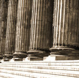 Altes museum. In Berlin. Architectural columns stock images