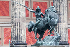 Altes Museum Berlin Germany. Altes Museum equestrian statue, Berlin Germany stock photography
