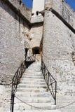 Altes Museum des Steins in Antibes Frankreich lizenzfreie stockfotografie