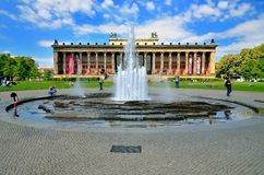 Altes Museum (Old Museum) located on Museum Island. Stock Photo